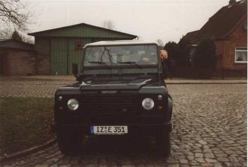 test drive in the LandRover Defender