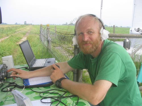 working as DK0RU during ILLW at the lighthouse 'Scheelenkuhlen' - with hot ears ;-)) -