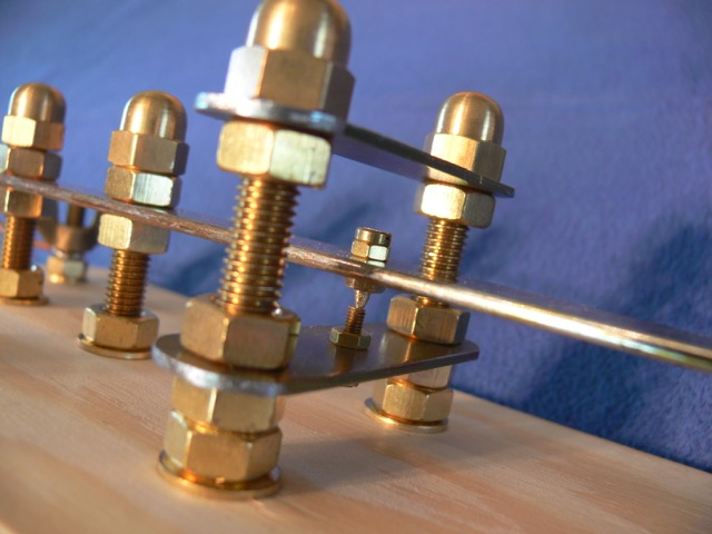 Brass Morse Key close up