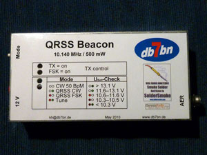 QRSS beacon in its case