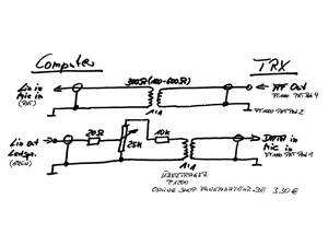 soundcard interface schematic